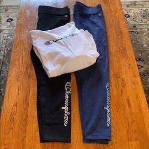 Champion legging and shirt set XL